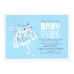 Colourful Modern Baby Sprinkle Invitation
