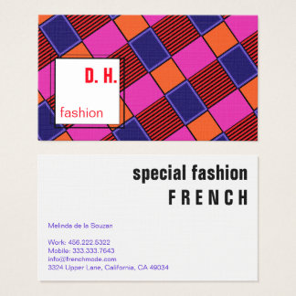 Colourful Modern Geometric Design Business Card