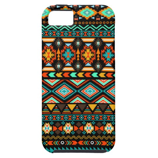 Colourful Modern Tribal Pattern Turquoise Andes iPhone 5 Cases
