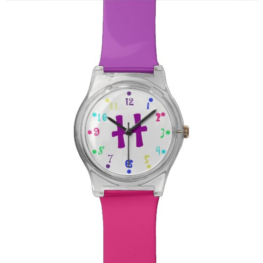 Colourful Monogram Wrist Watch