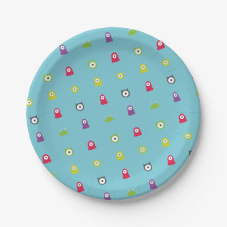 Colourful Monster Party Plates