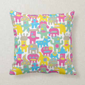 Colourful Monsters Pillow