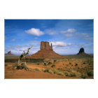 Colourful Monument Valley Mittens in Utah USA Poster