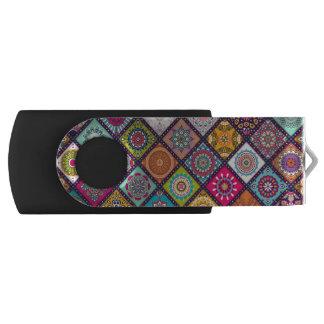 Colourful Moroccan mandala USB Flash Drive
