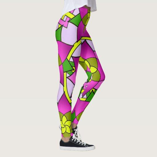 Colourful mosaic leggings. leggings