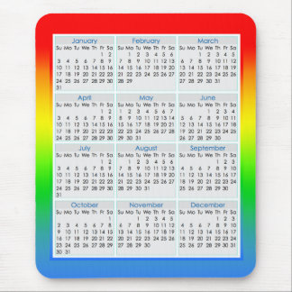 Colourful Mouse-pad Calendar for 2016 Mouse Mat