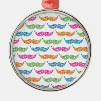 colourful moustache circles pattern image christmas ornament
