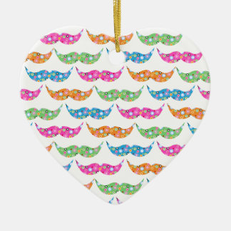 colourful moustache circles pattern image christmas ornament