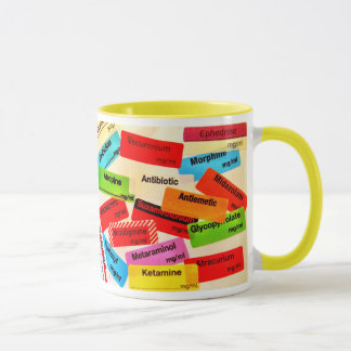 COLOURFUL MUG DRUG LABELS