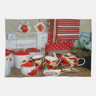 Colourful Mugs and Canister Set Kitchen Towel