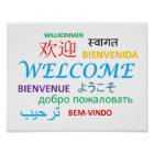 Colourful Multiple Language Welcome Poster