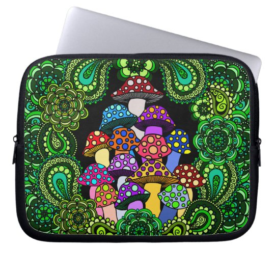 Colourful Mushrooms Laptop Sleeve