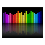 Colourful Music Equalizer w/Reflection, Cool