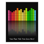 Colourful Music Equalizer w/Reflection, Cool 11.5 Cm X 14 Cm Flyer