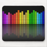 Colourful Music Equalizer w/Reflection, Cool Mousemats