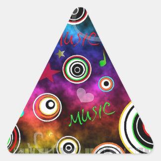 Colourful Music Illustration Triangle Sticker