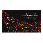 Colourful Music Musical Notes Artist Song Singing Pack Of Standard Business Cards