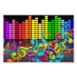 colourful music notes equalizer sounds