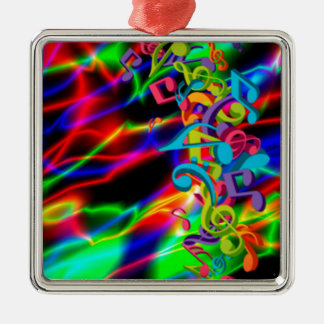 colourful music notes neon bright background christmas ornament