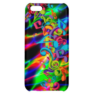 colourful music notes neon bright background color iPhone 5C covers