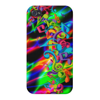 colourful music notes neon bright background color iPhone 4/4S cases