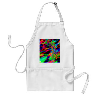 colourful music notes neon bright background standard apron