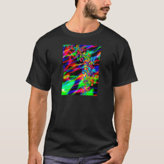 colourful music notes neon bright background T-Shirt
