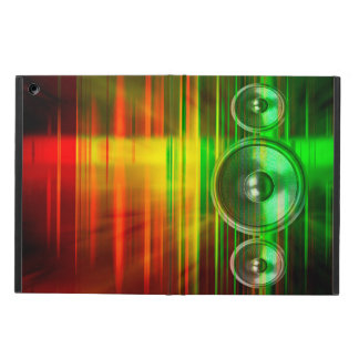 Colourful music speakers ipad case