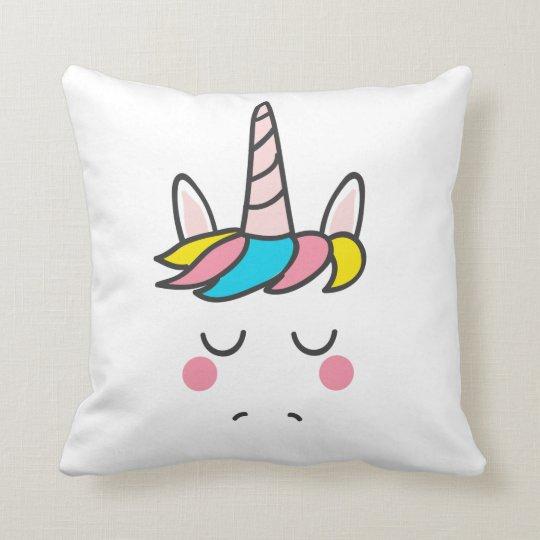 Colourful Mythical Unicorn Horse Pink Horn Magical Cushion
