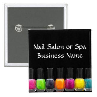 Colourful Nail Polish Bottles, Nail Salon Button