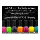 Colourful Nail Polish Bottles, Nail Salon Postcard