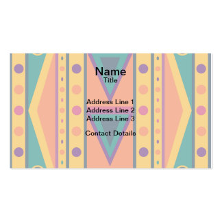 Colourful Native American Style Pattern Business Card Template