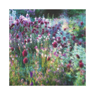 Colourful Naturalistic Garden Canvas Print