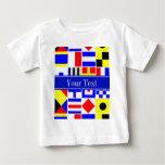 Colourful Nautical Signal Flags Royal Name Baby T-Shirt
