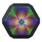 Colourful Neon Daisy Black Bluetooth Speaker