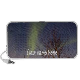 Colourful Northern Sky; Customizable Laptop Speaker