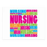 Colourful Nursing Postcards