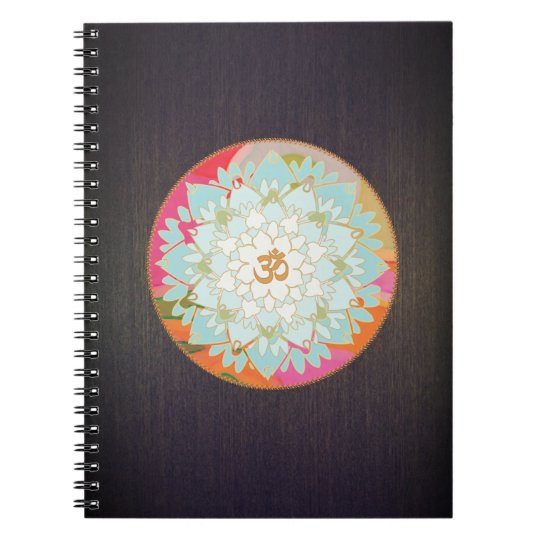 Colourful OM Lotus Yoga and Meditation Teacher Notebooks