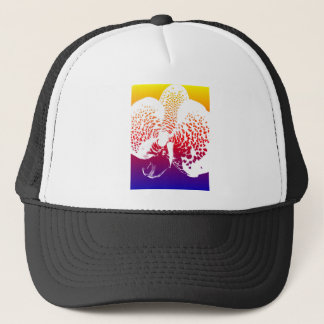Colourful Orchid Trucker Hat