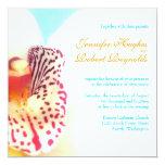 Colourful Orchid Wedding Invitation