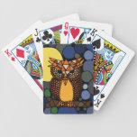 Colourful Original Owl Abstract Art Design Poker Deck
