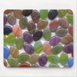 Colourful Oval Stone Beads Mouse Pad