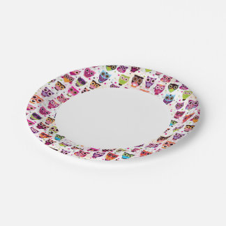 Colourful Owl Pattern For Kids 2 7 Inch Paper Plate
