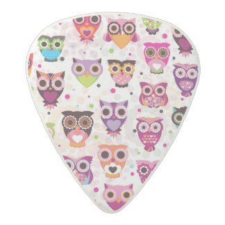 Colourful Owl Pattern For Kids 2 Acetal Guitar Pick