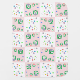 Colourful Owl Pattern For Kids 2 Baby Blanket