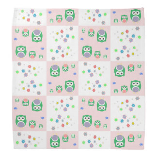Colourful Owl Pattern For Kids 2 Bandana