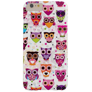 Colourful Owl Pattern For Kids 2 Barely There iPhone 6 Plus Case