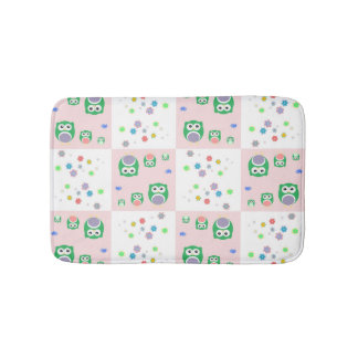 Colourful Owl Pattern For Kids 2 Bath Mats