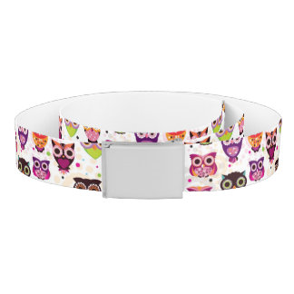 Colourful Owl Pattern For Kids 2 Belt