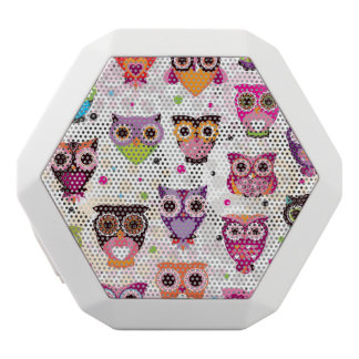 Colourful Owl Pattern For Kids 2 White Boombot Rex Bluetooth Speaker